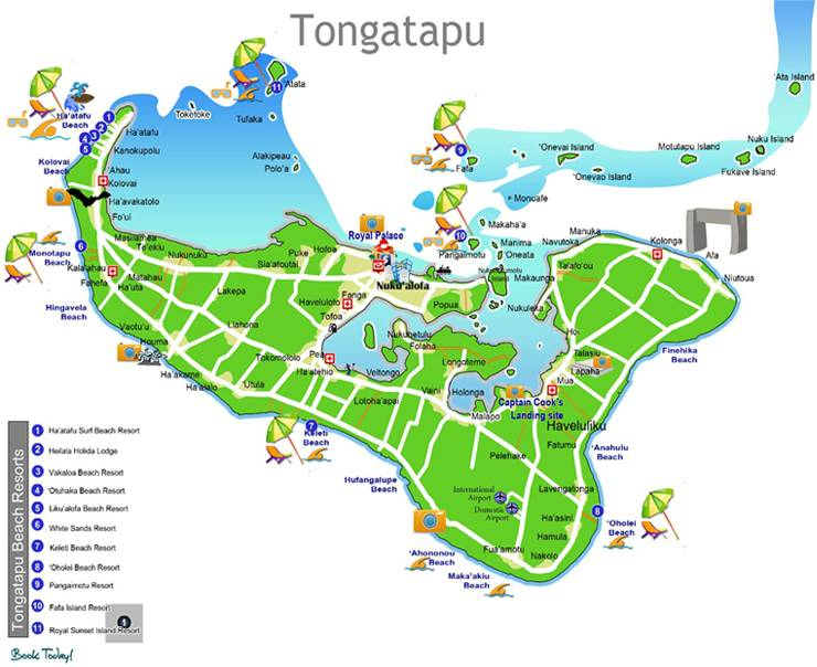 Map of Tongatapu